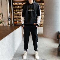 秋季男士卫衣套装韩版潮流帅气青少年休闲套装男学生运动服两件套