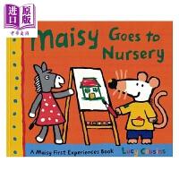 【中商原版】小鼠波波系列 Maisy Goes to Nursery Maisy 小鼠波波去幼儿园 低幼早教启蒙认知 平