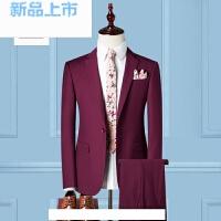 西服套装男士三件套春季修身型职业商务正装伴郎西装新郎结婚礼服