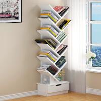 书架简约落地桌上卧室置物架多功能简易书柜客厅储物柜桌面收纳架