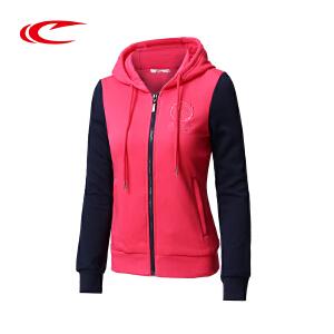 赛琪连帽卫衣女2017秋季新款舒适保暖女士运动服长袖休闲开衫外套