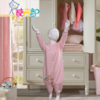 富安娜出品 酷奇智母婴床上用品 纯棉针织布分腿睡袋
