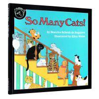 英文原版绘本So Many Cats! 很多猫 汪培�E一阶段推荐儿童趣味故事图画书 英语启蒙入门阅读育儿晚间入睡童书