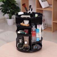 家用梳妆台旋转化妆盒桌面化妆品收纳盒塑料创意韩国化妆品收纳架