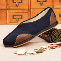 休闲中国风男鞋老北京布鞋男功夫鞋传统鞋复古中老年老头老人鞋