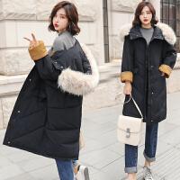孕妇棉衣女韩版中长款连帽新款2018保暖大口袋孕妇装冬装外套