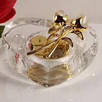 水晶玫瑰音乐盒 天空之城 浪漫八音盒女友生日礼物