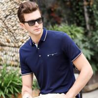 2019纯色短袖t恤男士商务休闲春夏季韩版宽松带有领POLO衫男半袖体恤