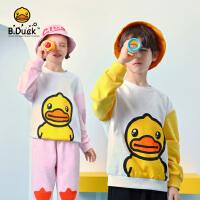 【3折价:167.7】B.Duck小黄鸭童装儿童套装2020春秋新款洋气男女童卫衣两件套潮BF1181907