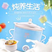 婴儿煮粥锅 慢炖锅迷你白瓷煲汤锅辅食机电炖盅