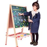 儿童画板双面磁性家用宝宝画画涂鸦写字板画架小黑板支架式可升降