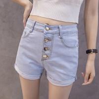 短裤女新夏季显瘦高腰薄修身韩版个性学生短裤大码牛仔裤