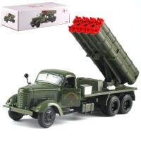 20190702010959696东风老解放卡车经典怀旧1:36合金汽车模型声光吉普玩具军事摆设