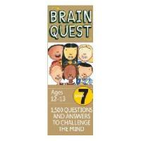 【现货】英文原版Brain Quest Grade 7, Ages 12-13, Revised 4th 儿童智力开发