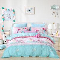 百丽丝家纺水星出品小马宝莉四件套儿童被套床单小马甜甜堡1.2米床