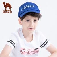 小骆驼童装儿童新款个性字母鸭舌帽男女童防晒帽遮阳帽休闲棒球帽