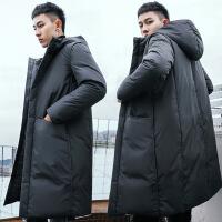 羽绒服男中长款加厚2018新款冬季韩版潮流加厚修身青年帅气潮外套