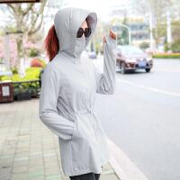 2018夏季新款韩版宽松沙滩服薄款长袖外套防晒衣女中长款
