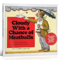 【全店300减100】英文原版绘本Cloudy With a Chance of Meatballs 阴天有时下肉丸