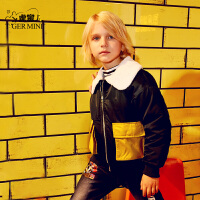 【3折价:162元】小虎宝儿男童加绒棉衣短款2019冬装新款儿童加厚外套中大童洋气潮