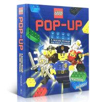 进口英文原版正版 LEGO Pop-Up 乐高立体书3D弹起教科儿童玩具MatthewReinhart变形金刚作者提高动手操作能力恐龙城堡亲子故事读物