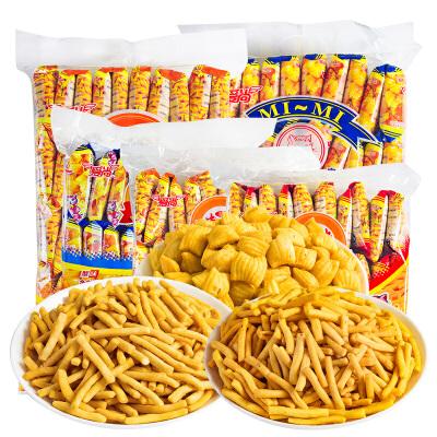 咪咪 油炸休闲小点心虾味蟹味360g/袋(18g*20包)共20包