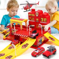 儿童玩具消防车工程车套装警察合金小汽车男孩0-1-2-3-4-6-岁