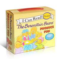 英文原版童书 Berenstain Bears Phonics Fun 贝贝熊自然拼读12本盒装启蒙绘本2-6岁 I