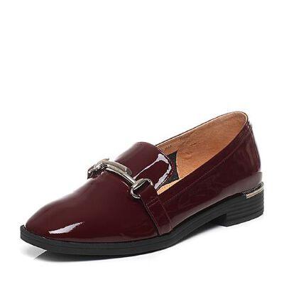 Belle/百丽2017春专柜同款时尚英伦漆皮牛皮女单鞋BLN28AM7