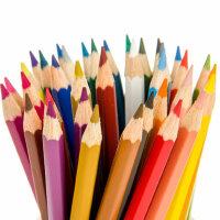 德国辉柏嘉48色水溶彩铅单支专业水溶性彩色铅笔单只399黑色铅笔