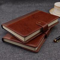 商务笔记本文具本子加厚 A5皮面带扣记事本复古日记本