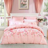 水星家纺四件套全棉双人床上用品纯棉被套床单