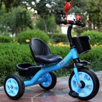 儿童三轮车脚踏车小孩单车1-3-5-2-6岁大号手推车男女宝宝自行车 蓝色 大s豪华蓝色