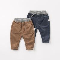 [限时3折价:80.1]戴维贝拉秋装新款男童裤子宝宝灯芯绒长裤DB8539