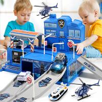 停车场玩具套装停多车大号轨道车儿童玩具男孩7-9岁智力汽车模