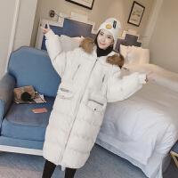 棉衣女士外套冬季新连帽大毛领女长过膝外套棉袄加厚棉衣