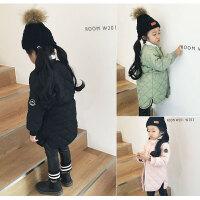 新款冬季棉袄小女孩冬装外套宝宝棉衣中长款