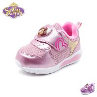 【限时79元2双】迪士尼Disney童鞋18秋季新款幼童宝宝鞋天鹅绒女童小公主学步鞋时尚运动鞋 (0-4岁可选) K0