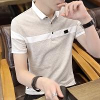 短袖t恤男2018夏季新款polo衫韩版修身百搭翻领半袖潮�B恤衬衫领