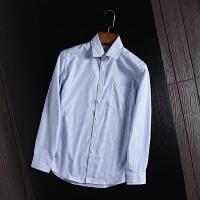 国内剪标尾单商务衬衫男长袖条纹上班工装春装衬衣寸衫百搭上衣