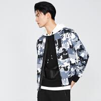 gxg.jeans男装秋季休闲棒球服青年迷彩色修身夹克外套63621311