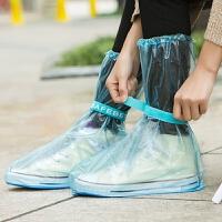 透明高筒雨靴套男女防滑水鞋 成人户外加厚耐磨防水雨鞋套