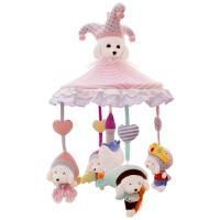 旋转摇铃0-3-6-12个月宝宝床头铃 婴儿床铃玩具毛绒布音乐