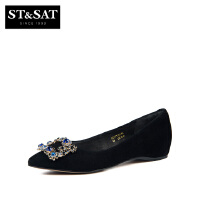 St&Sat/星期六 商场同款金属扣饰尖头女单鞋SS73111136