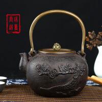 铁壶铸铁泡茶纯手工无涂层日本铁壶铸铁壶无涂层 铁茶壶日本南部生铁壶茶具烧水煮茶老铁壶