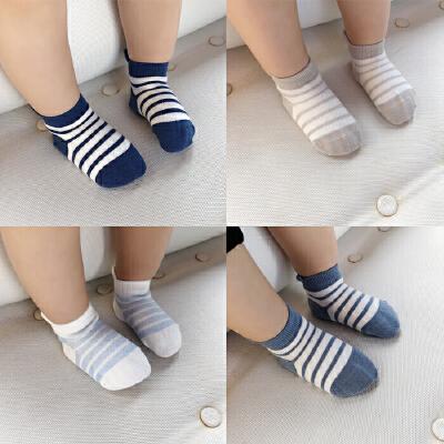 婴童装春季男童条纹短袜子新生婴儿女宝宝鞋袜