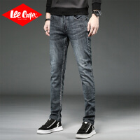 Lee Cooper2019秋款男直筒修身小脚弹力水洗长裤潮牌直筒牛仔裤男