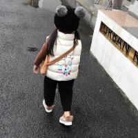 儿童秋冬马甲女童2018新款中小童宝宝面包服百搭加绒加厚背心外套