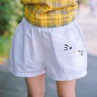 女童短裤夏季新款松紧腰刺热裤宝宝裤子沙滩短裤