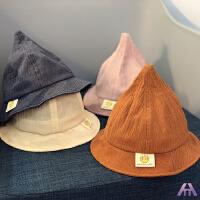 春夏宝宝渔夫帽儿童休闲帽子男女童盆帽贴标纯色遮阳帽